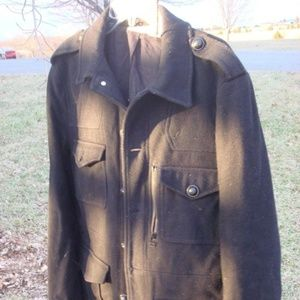 DKNY Donna Karen coat jacket black peacoat